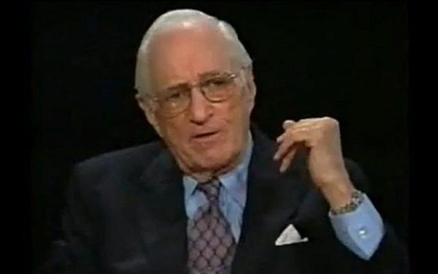 Leonard Garment in 1999 (photo credit: YouTube)