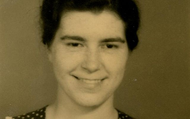 Lois Gunden's passport photo in 1941. (photo credit: via Facebook)