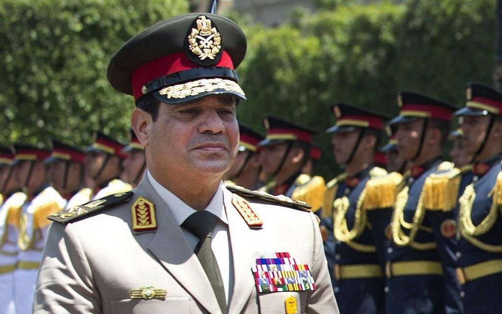 General Abdel-Fattah el-Sissi (photo credit: AP/Jim Watson, Pool)