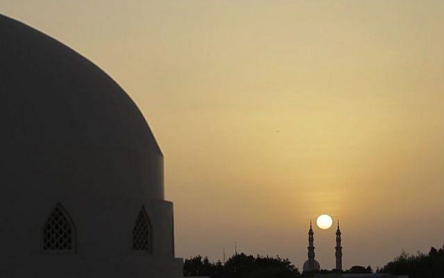 The minarets of a mosque in Dubai, United Arab Emirates (photo credit: AP/Kamran Jebreili/File)