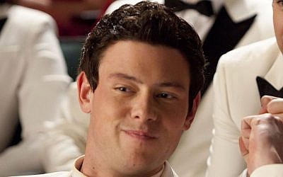 In this undated publicity image released by Fox, Cory Monteith, left, and Darren Criss are shown in a scene from 'Glee.' (photo credit: AP/Fox, Adam Rose)
