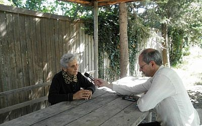 Prof. Geoffrey Khan interviews a Christian Aramaic speaker in Georgia. (photo credit: courtesy)