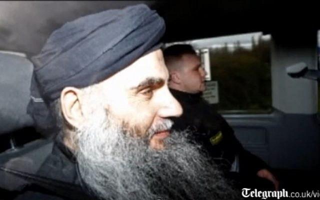 Radical Islamic cleric Abu Qatada (screen capture:Youtube/telegraphtv)