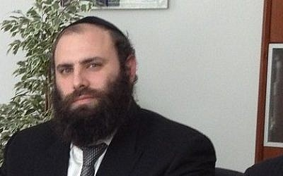 Rabbi Menachem Margolin (courtesy European Jewish Association)
