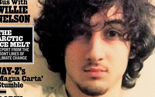 """Close up of Boston Marathon bombing suspect Dzhokhar Tsarnaev who appears on the cover of the Aug. 1, 2013 issue of """"Rolling Stone."""" (photo credit: AP/Wenner Media)"""