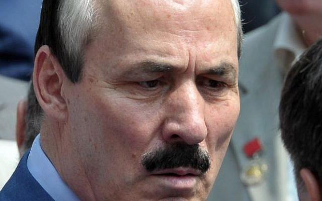Ramazan Abdulatipov, the acting president of the Russian province of Dagestan (photo credit: AP Photo/RIA-Novosti, Alexei Nikolsky, Presidential Press Service)