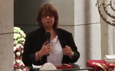 "Magda Haroun, president of Egypt's Jewish community vows ""never, never, never"" to leave the country. (photo credit: YouTube screenshot)"