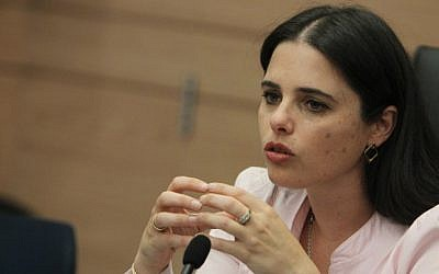 Jewish Home MK Ayelet Shaked, March 11, 2013. (photo credit: Miriam Alster/Flash90)