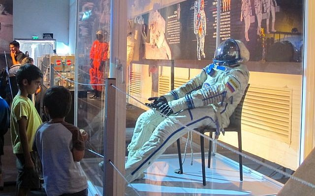An astronaut simulation at SpaceMania (Photo credit: Courtesy)