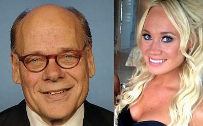 Steve Cohen, a Tennessee congressman, believed bikini model Victoria Brink was his daughter, but it turned out not to be the case. (photo credit: United States Congress/Facebook/via JTA)