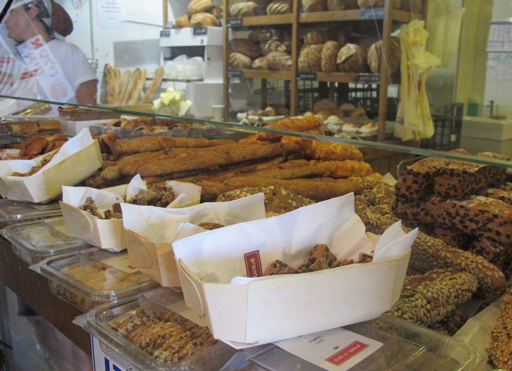 Some baked goods at the northern port market in Tel Aviv (photo credit: Leeor Bronis/Times of Israel)