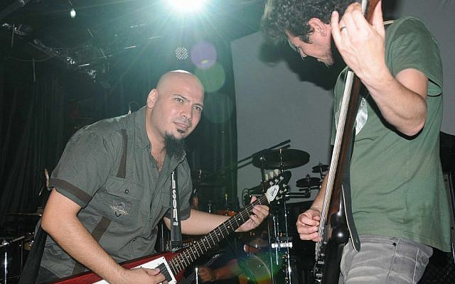 Abed Hathut, left, rocks out with Khalas. (photo credit: Sulafa Zidani)