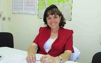 Bloch in her campaign office. (photo credit: Debra Kamin)
