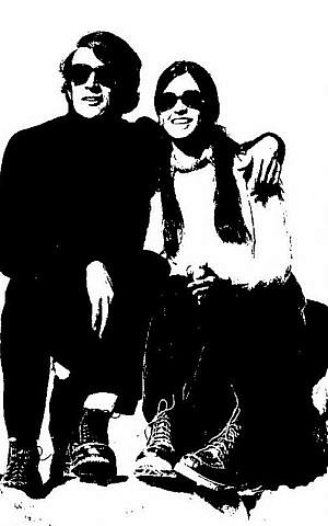 Andy Griffel and Anita Spindel in December 1972 (Photo credit: courtesy Tali Griffel)