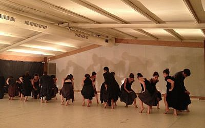 The dancers of Batzir 15 (photo credit: Jessica Steinberg/Times of Israel)