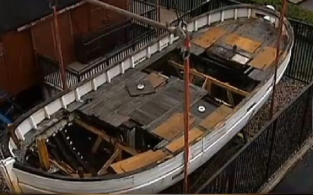 The Danish fishing boat. (Screenshot: Fox 26 Houston)
