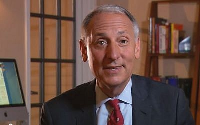 Eric Fingerhut, president of Hillel (photo credit: YouTube screenshot)