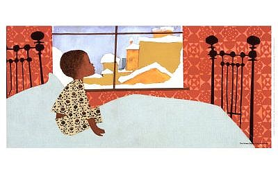 Illustration from 'The Snowy Day' (photo credit: public domain)