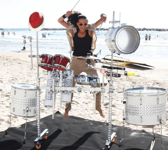 Noa Halevi, a drummer, runs Beat4it, a percussion group that works with children and adults (Photo credit: Courtesy: Noa Halevi/ Facebook)