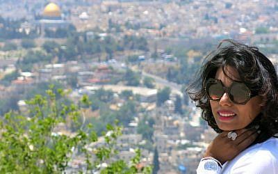 The author in Jerusalem (photo credit: Courtesy Qanta Ahmed)