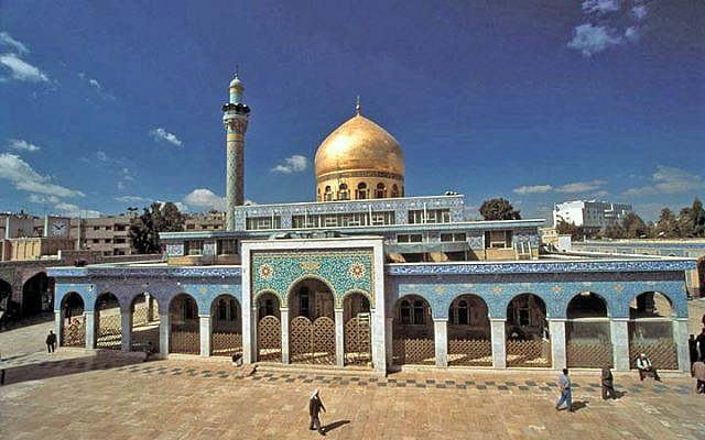 A file photo of the Sayida Zeinab shrine in Damascus. (Photo credit: Wikipedia)