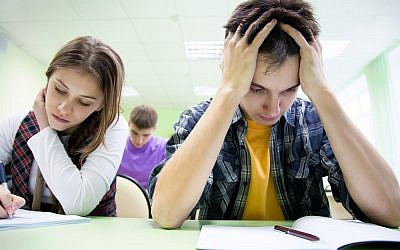 Illustrative photo of students taking a test. (Image via Shutterstock)