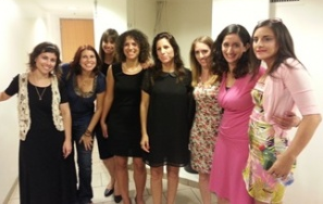 NIF's 'standupists,' with Orna Banai in the middle (Courtesy NIF)