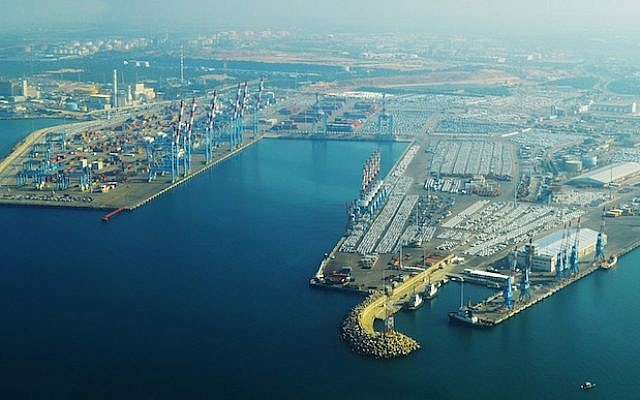 Ashdod Port (Photo credit: Courtesy Amos Meron/WikiAir Israel)