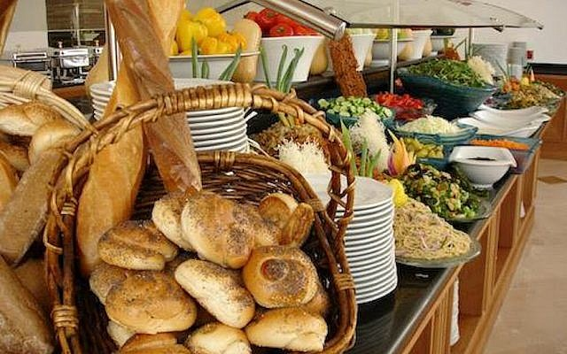 An Israeli hotel breakfast spread (photo credit: Courtesy Grand Hotels)