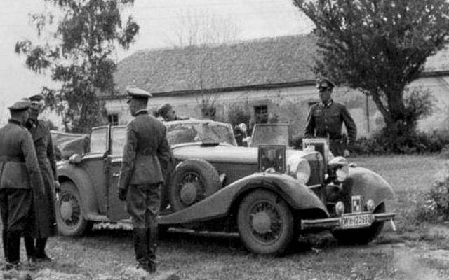 Göring's 1941 Mercedes Benz before it was captured by the Allies. (Courtesy of Steven Saffer)