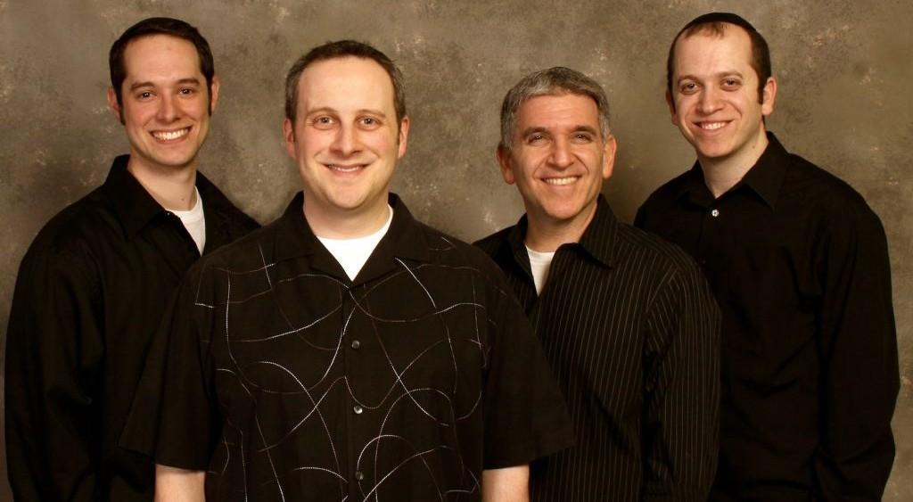 The members (left to right) of Listen Up! — Noah Mishkin, Steve Singer, Kevin Kirshenbaum, AY Karsh (photo credit: Courtesy Listen Up! /Rine Photographics)