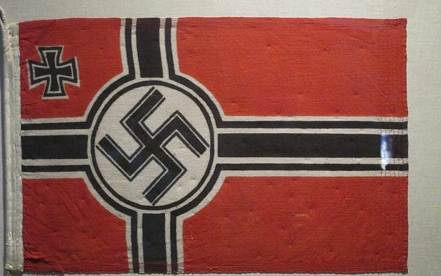 Illustrative photo of a Nazi flag on display (CC BY-BPTakoma, Flickr)