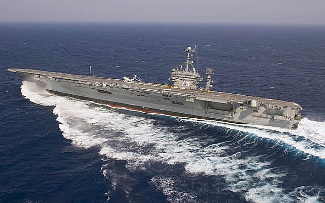 The aircraft carrier USS Harry S. Truman (photo credit: Mass Communication Specialist 3rd Class Kristina Young/Wikimedia Commons)