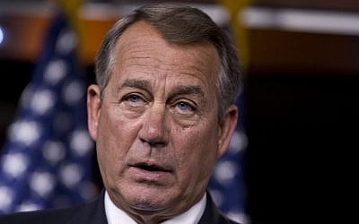 Speaker of the US House of Representatives John Boehner (photo credit: AP/J. Scott Applewhite)