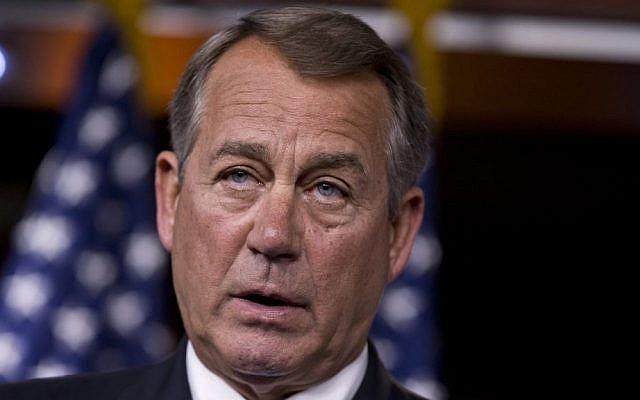 Speaker of the US House of Representatives John Boehner (photo credit: AP/J. Scott Applewhite)