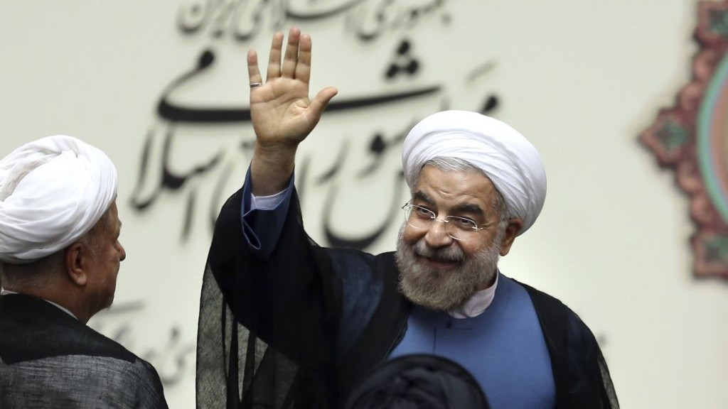 Iran denies rouhani tweeted a rosh hashanah greeting the times of iranian president hassan rouhani waves after his swearing in ceremony at the parliament in m4hsunfo