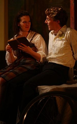 Amy Gray as Manicka and Steve Greist as Abeles in 'The Cyclist.' (photo credit: Allison Tenn)