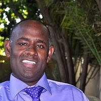 Asher Seyum, the head of the Jewish Agency in Ethiopia (photo credit: Michal Shmulovich/ToI)