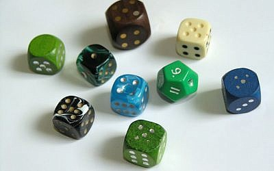 Illustrative picture of dice (photo credit: CC BY-SA-2.5, by Jedudedek, Wikimedia Commons)