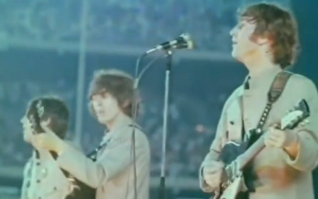 Bernstein was behind the first stadium concert in rock history -- the Beatles' 1965 performance at Shea Stadium. (YouTube)