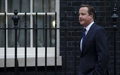 Britain's Prime Minister David Cameron in London, Thursday, Aug. 29, 2013. (Photo credit: AP/Matt Dunham)