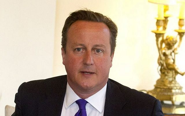 Prime Minister David Cameron at 10 Downing Street in London (photo credit: AP/Lewis Whyld)