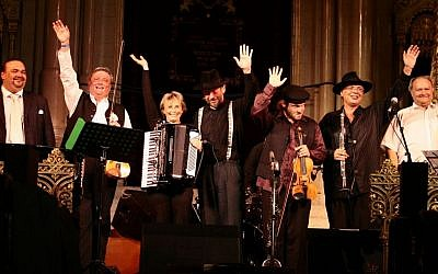 A klezmer band performs at Budapest's Dohany Street Synagogue at least year's summer festival. (photo credit: Courtesy of the Hungarian Summer Jewish Festival)