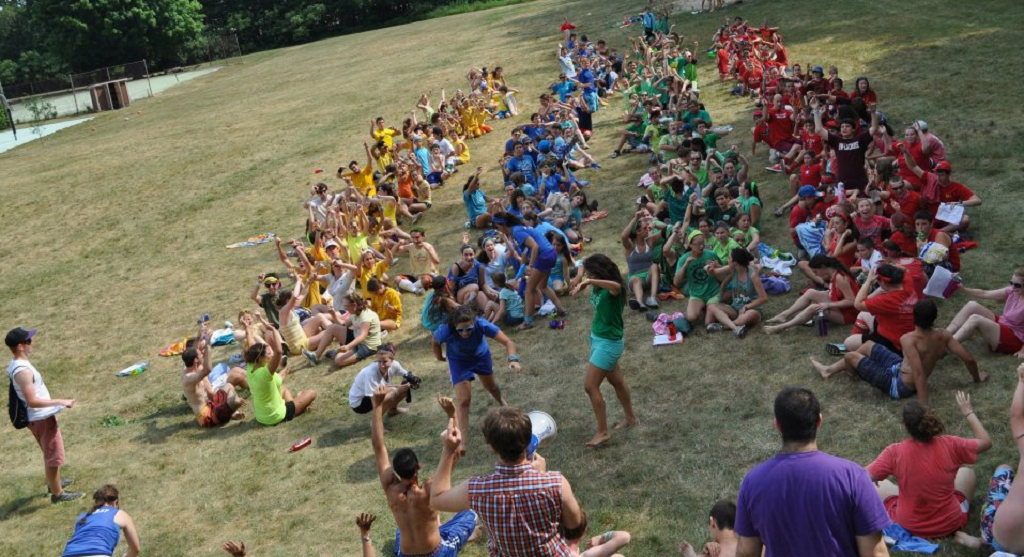 Campers at Indiana's Goldman Union Camp Institute prepare for color war. (Facebook)