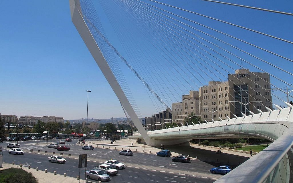 A look at the city from the Chords Bridge (photo credit: Leeor Bronis/Times of Israel)