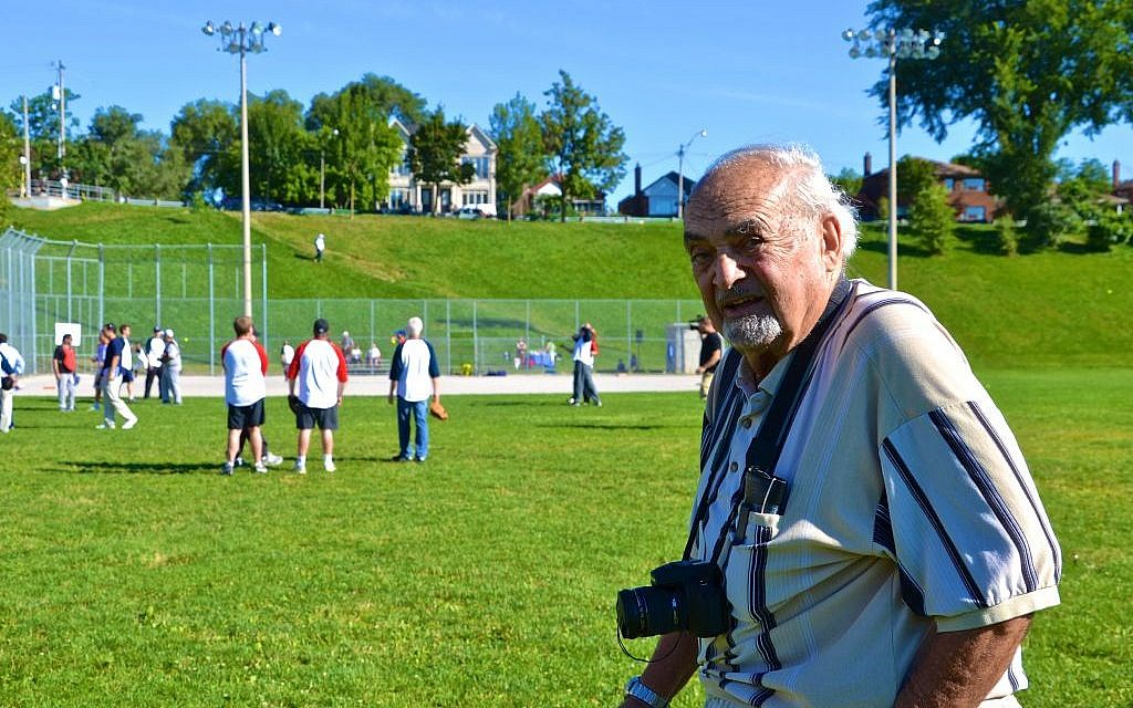 Joe Black, 87, still vividly remembers the pandemonium that broke out at Toronto's Christie Pits Park after a huge swastika was unfurled during a baseball game. (Samara Bernstein-Hendry)