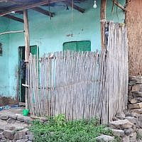 An outside view of Damaka's home in Gondar, located a block from the synagogue the Jewish Agency ran, where he worked as a cook (photo credit: Michal Shmulovich/ToI)