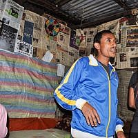 Damaka Mengisto at his home in Gondar, Ethiopia (photo credit: Michal Shmulovich/ToI)
