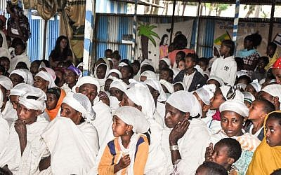 Preparing for life in Israel: An ordinary day at the Jewish Agency's synagogue in Gondar, Ethiopia (photo credit: Michal Shmulovich/ToI)
