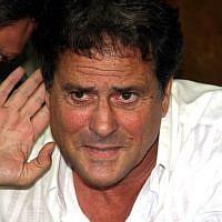 Former television personality Dudu Topaz in court in Tel Aviv in 2009. (Roni Schutzer/Flash90)